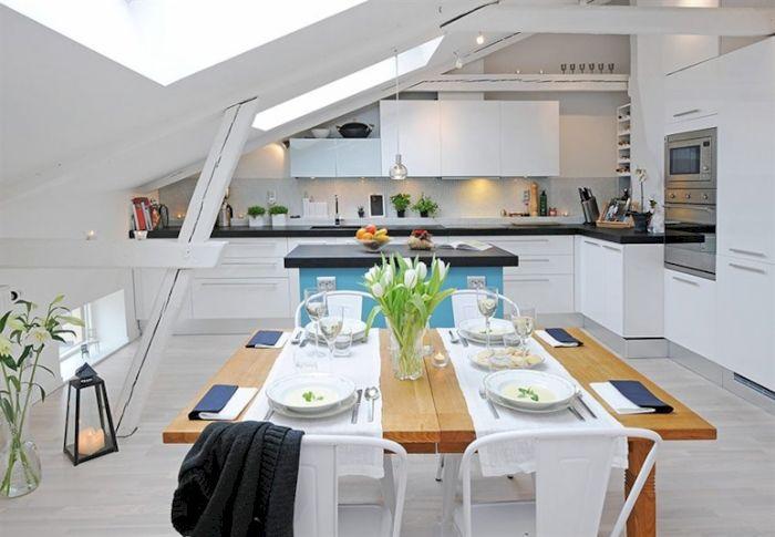 Прекрасная светлая столовая, что станет просто лучшим решением для любого интерьера дома.