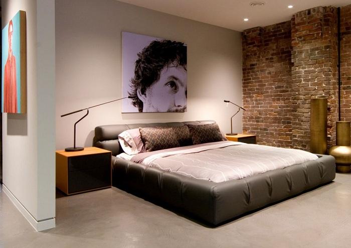 Красивый дизайн спальни в индустриальном стиле подойдет для трансформации комнаты, которая подарит ей новую жизнь.