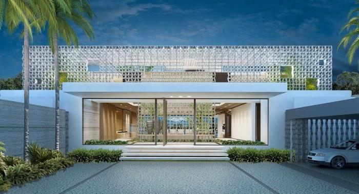 Усадьба техногенного характера, вилла была задумана как эксклюзивный семейный дом. Она расположена в Лагосе, Нигерия.