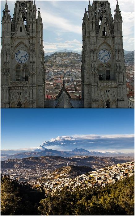 Город Кито, по праву считают самым красивым городом в Южной Америке. Кито расположен высоко в горах, так что с любой точки города открываются прекрасные пейзажи. Один из первых в мире объектов, внесенных в Список Всемирного культурного наследия ЮНЕСКО.
