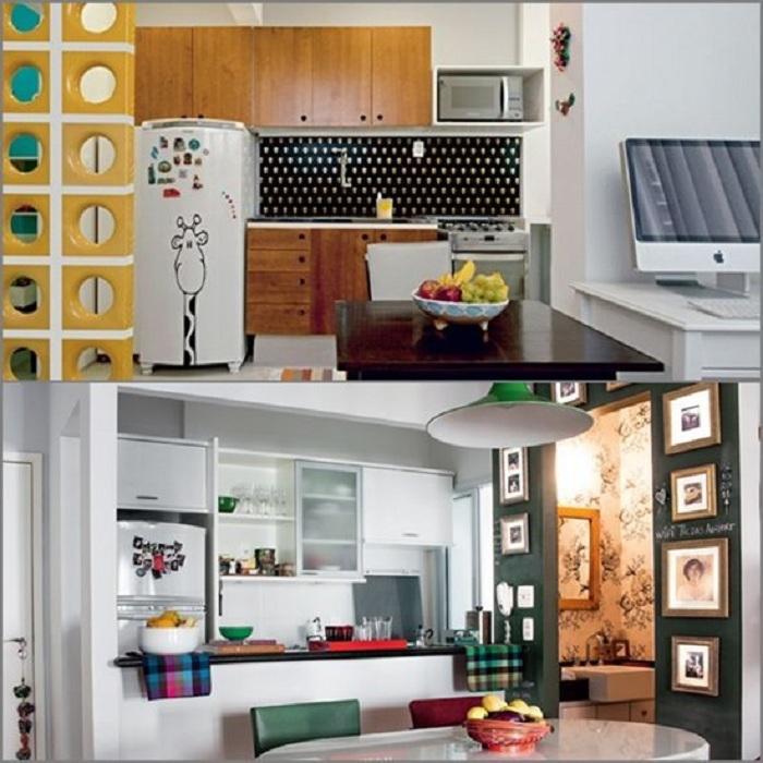 Отменные примеры декорирования мини-кухонь, что преобразят любую обстановку.