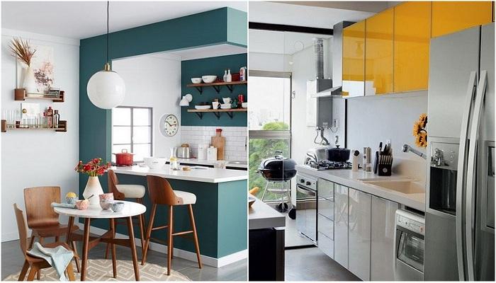 Практичные идеи для декорирования маленьких кухонь.