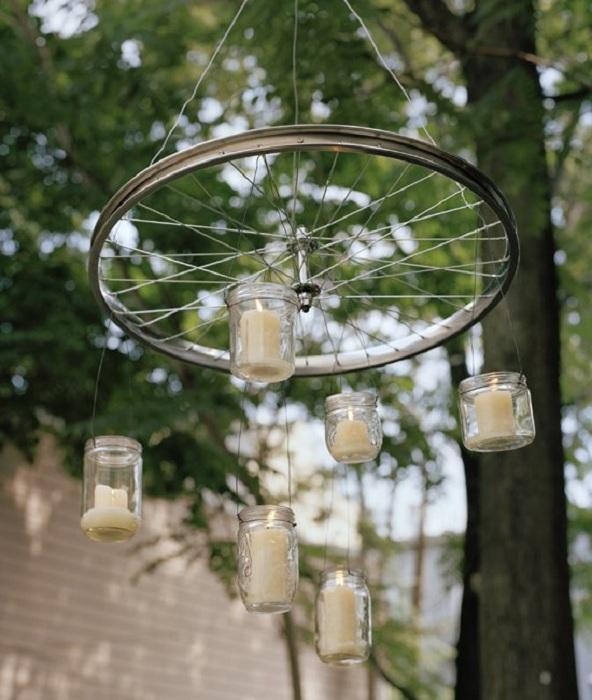 Колесо-люстра для отдыха на открытом воздухе - то что нужно.