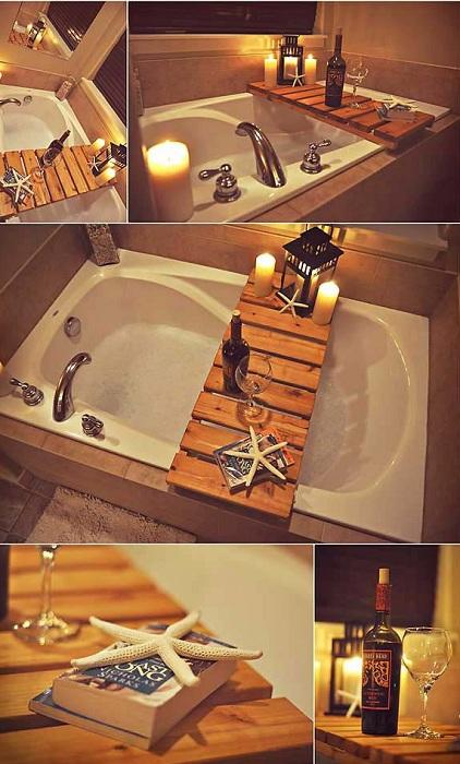 Интересное решение при декорировании ванной комнаты - использовать в ней кэдди.