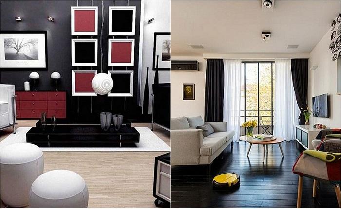 Примеры оформления маленьких гостиных.
