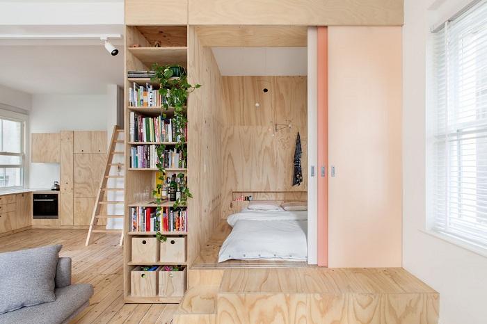 Успішне і відмінне рішення створити такий крутий варіант дерев'яної перегородки будинку, що створить незвичайну атмосферу.