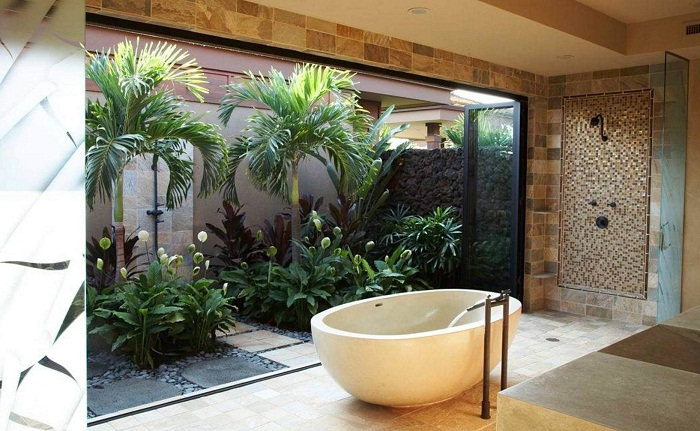 Очень интересное решение украсить дом изнутри благодаря мини-саду.