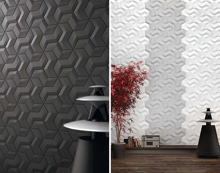 Универсальное оформление стен геометрическими узорами, которые действительно покажут особенности декора.