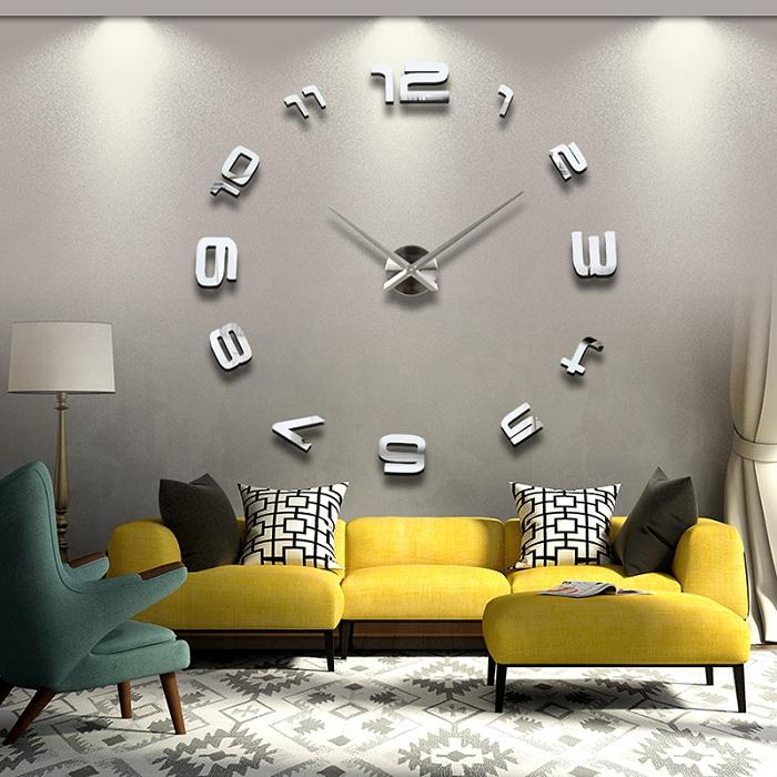 Красивые настенные 3D часы, самое лучшее решение для декорирования стены в гостиной или спальне.