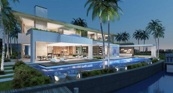 Проект находится на знаменитом острове Майами, Флорида, США, с прекрасными видами из Бискайского залива.
