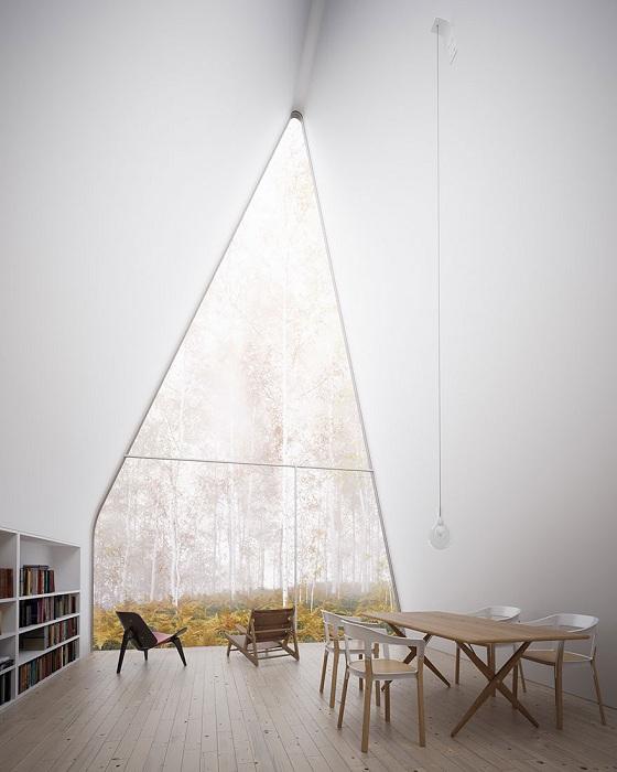 Прекрасный обзор из окна позволяет окунуться в осеннюю атмосферу Шотландии.