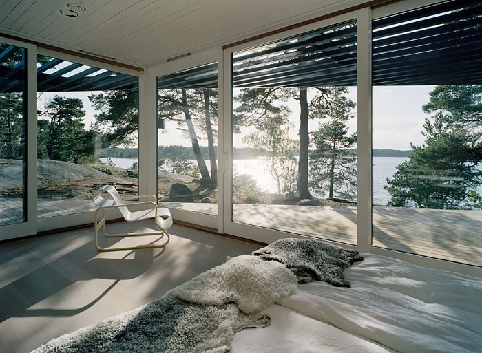 Симпатичный вид из номера создает впечатление полного воссоединения с природой Швеции.