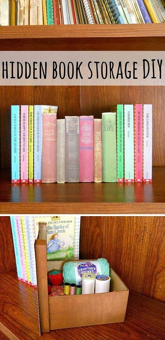 Хороший вариант скрыть тетради и книги под обложками старинных книг.