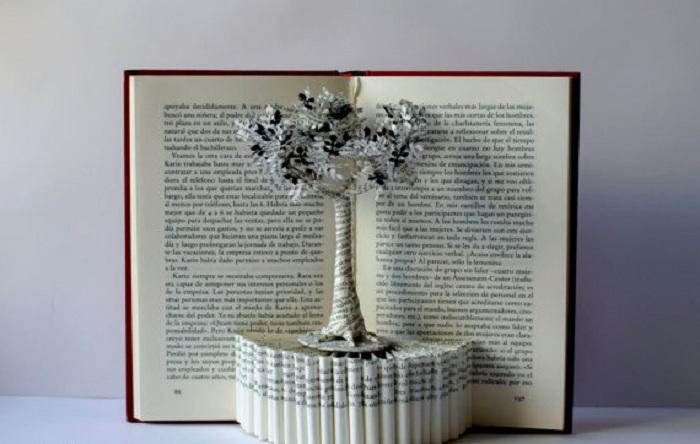 """Интересный вариант, который возможно создать при помощи бумаги - """"Дерево жизни""""."""