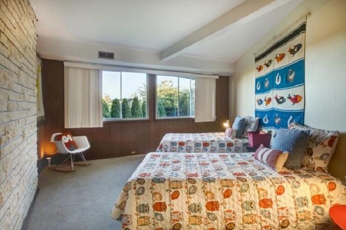 Интерьер в стиле модерн с добавлением милых сов - это просто отличное решение для спальни детей.