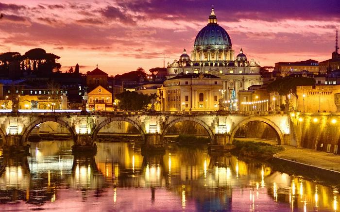 Необыкновенные ночные виды Рима останутся в памяти навсегда.