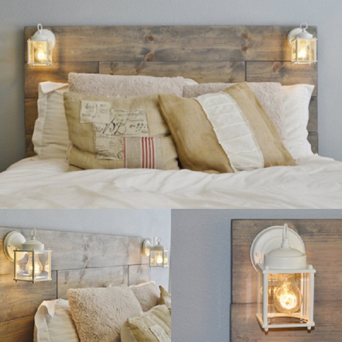 Удобный каркас кровати на паллете в нежных цветах, украсит любую комнату.