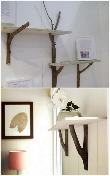 Практичные и симпатичные полки для книг и сувениров - простота в мелочах.