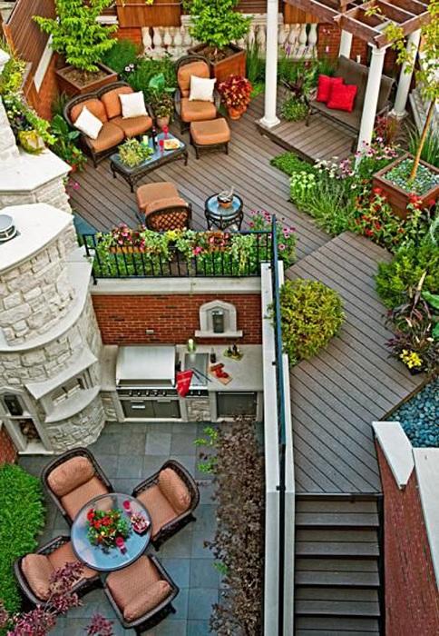 Полный открытый празднично-развлекательная люкс с террасами и отличной перголой.