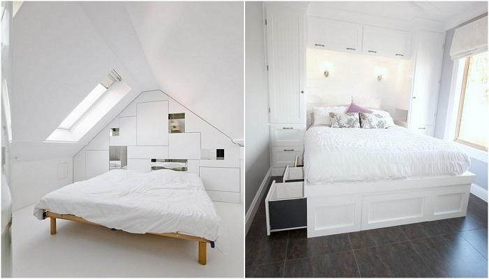 Интерьеры спален в белом цвете - светлое и удобное решение для дизайна комнаты