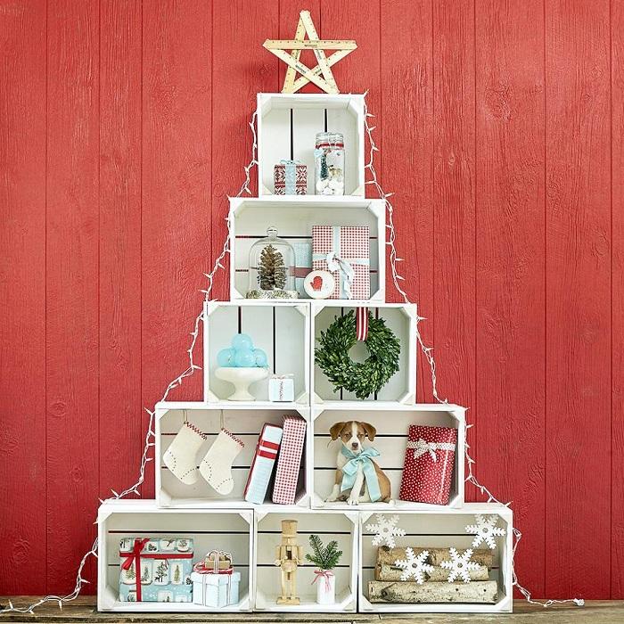 Хорошенький вариант быстро преобразить интерьер и создать новогоднее настроение.