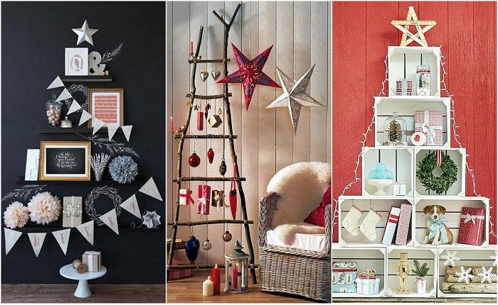 Примеры оформления пространства дома накануне Нового года.