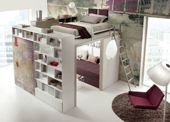 Прекрасный интерьер спальной, что понравится на раз и создаст волшебную обстановку.