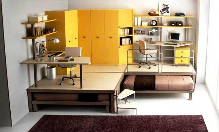 Просто шикарный вариант отлично оформить мини-спальню, что точно благоприятно впишется в интерьер.