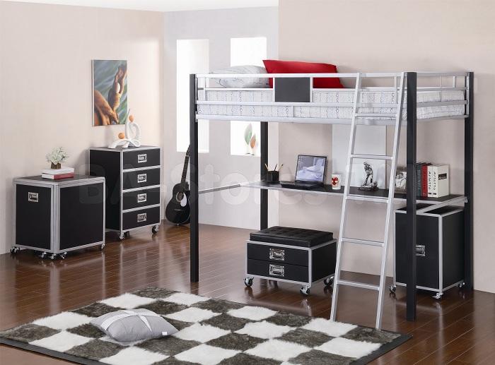Красивая и практичная идея оформления комнаты с рабочей зоной.