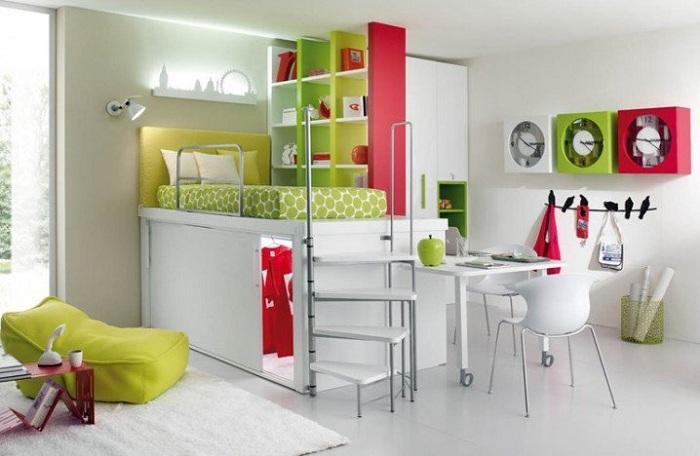 Оптимальная спальня что станет просто отличной комнатой для отдыха деток.
