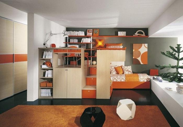 Симпатичное сочетание цветов в декоре для украшения укромной спальни.
