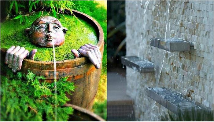 Симпатичные фонтаны, которые отлично украсят любой двор.