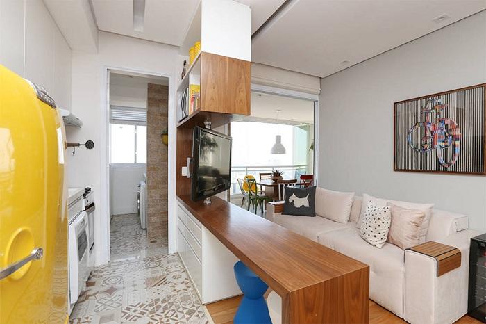 Оптимальное зонирование пространства комнат благодаря перегородки, которая разделит различные зоны комнаты.