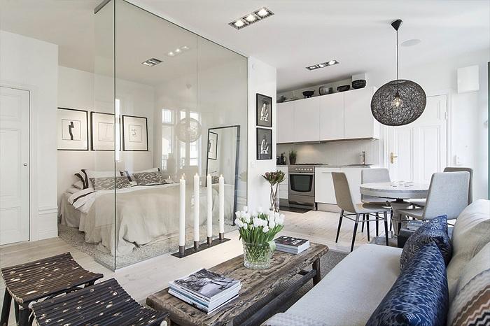 Красивый декор крохотной квартиры, что понравится и вдохновит.