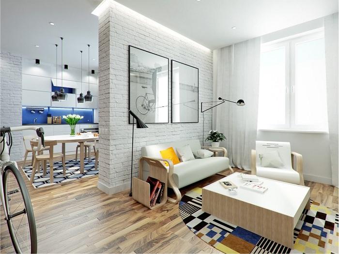 Отличный вариант удачно обустроить квартиру с маленькой и комфортной площадью.
