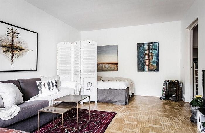 Одно из лучших решений удачно преобразить интерьер крохотной квартиры.