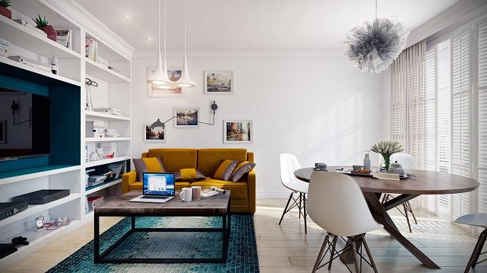 Правильное использование полезной площади в такой крохотной квартире.