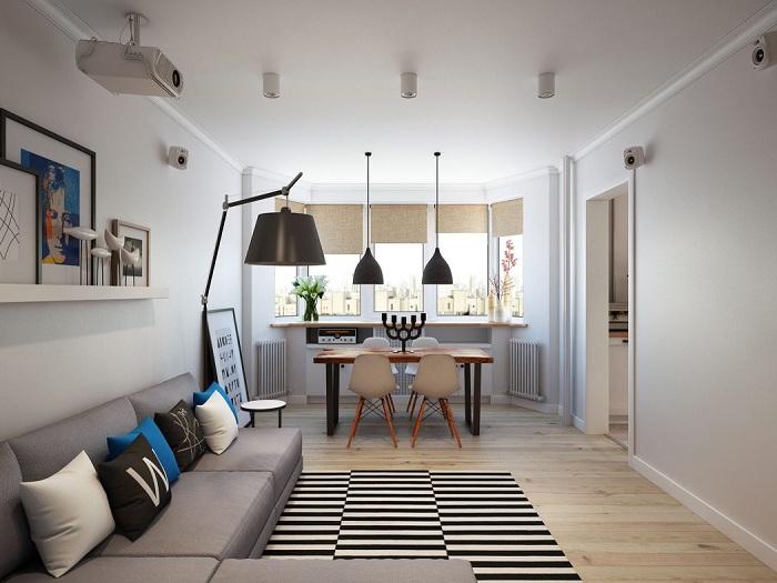 Хороший вариант оптимально обустроить интерьер маленькой квартиры.