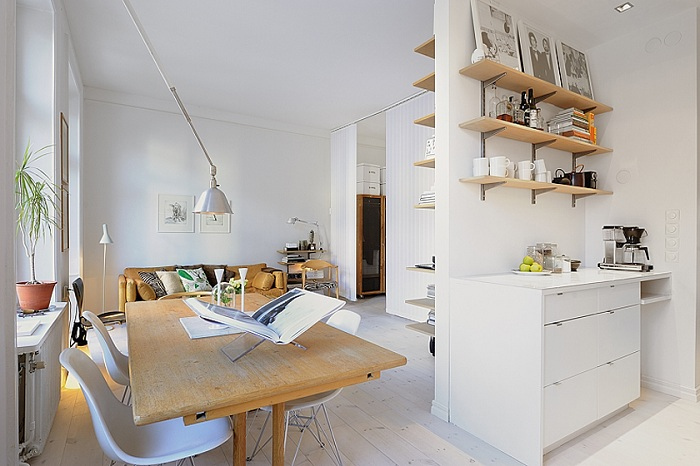 Квартира с маленькой площадью и отличным интерьером.