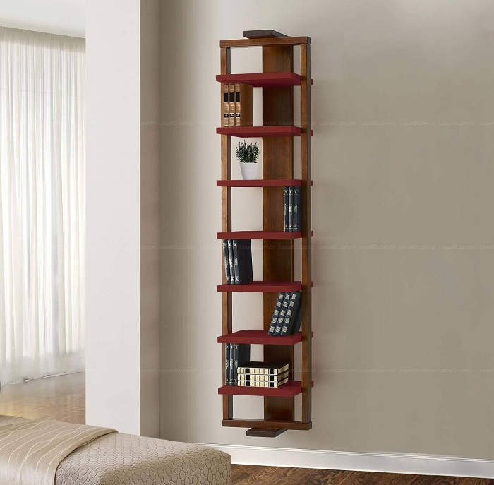 Симпатичный вариант облагородить интерьер комнаты при помощи оригинальных полок, которые просто отличны.