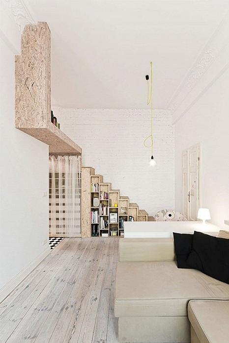 Оригинальные полки в комнате станут просто отличным вариантом для её декорирования и преображения.