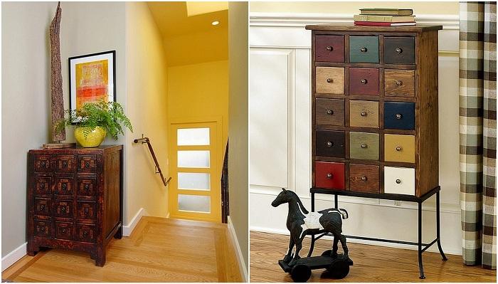 Интересный вариант оформления шкафов-аптек, то, что станет находкой для интерьера.