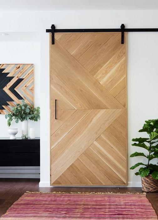 Потрясающее решение преобразить интерьер любой из комнат при помощи размещения раздвижных дверей.