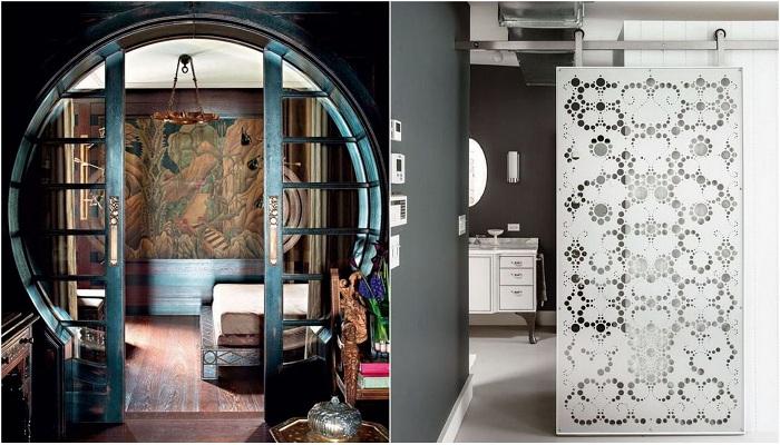 Интересные варианты оформления межкомнатных дверей, которые определенно понравятся.