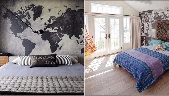 Варианты оформления стен в спальнях, которые вдохновят.