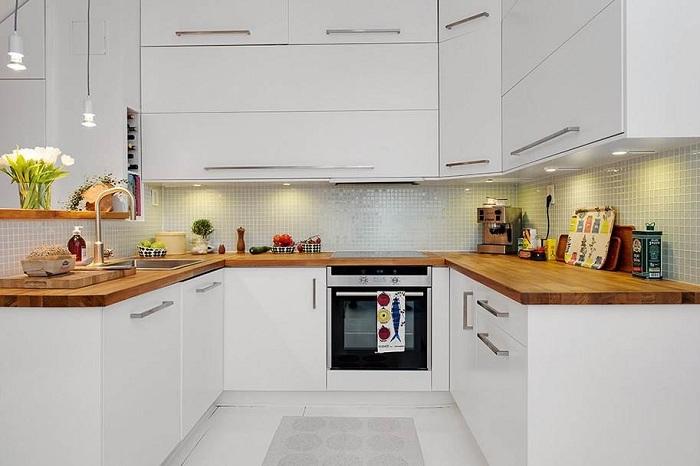 фото кухни п образной формы
