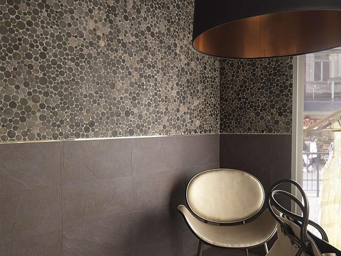 Круглая каменная плитка не просто понравится, но и облагородит любой интерьер.