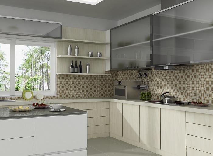 Отличный вариант оформить кухню в таких светлых тонах, что собственно говоря и задает положительное настроение.
