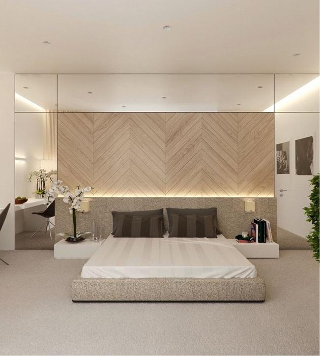 Успешное оформление спальной комнаты с оригинальной подсветкой, что создаст комфорт и уют.
