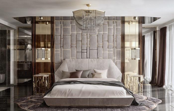Оригинальный интерьер спальной стал таким благодаря правильному оформлению такого типа комнаты.